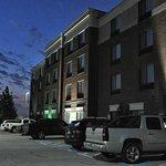 SpringHill Suites-Las Colinas: north elevation at dawn