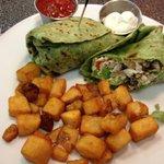 Vegetarian omelette wrap