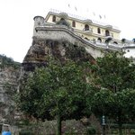 The hotel perched on a cliff