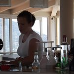 Great barmaid at the sky bar