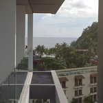 Veiw from our room to one beach.