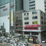 Myeongdong across the street