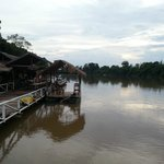 The wonderful floating restaurant, located on the Nam Ngum river