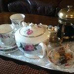 beautiful tea tray