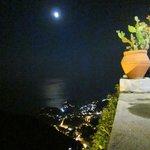 Aussicht über Taormina von Castelmola aus fotografiert