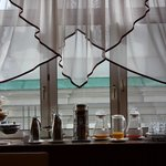 window in the breakfast room.