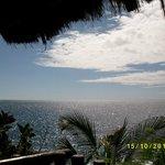 the view from a balcony close to Parque Las Americas