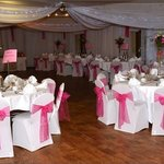 The Ballroom decorated for our event by Karen Austin Deorations
