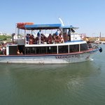 one of the boats to the island of Tavira