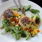 the excellent crab cakes