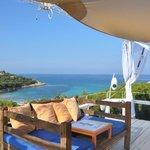 vista lounge do hotel para orange beach