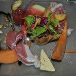 Duo de melon et pastèque au jambon cru