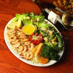 Garlic Shrimp & Caesar salad