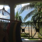 view from second floor hammocks