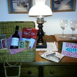 In room picnic arranged by the Innkeepers