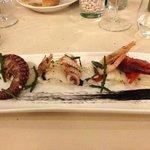 Antipasto: insalata tiepida su burrata ragusana