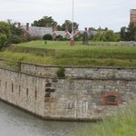 Outer walls and moat