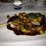 veal chop with butternut squash