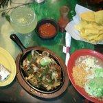 Beef Fajitas and a Jumbo Margarita