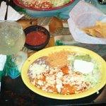 Enchiladas Cozumel and a Margarita
