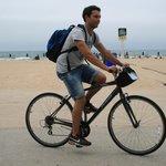 in bici nel Lincoln  parco