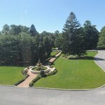 View of Grand Lawn from Sage Room with Fountain
