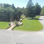 View from Sage Room of Front Fountain and Lawn