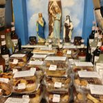 Gotta love the Virgin Mother looking over the biscotti!