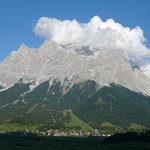Sicht auf die Zugspitze ein herrliches Bergpanorama