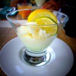 Lime sorbet for an appetizer