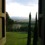 Dit is het uitzicht vanuit de keuken van Casa Emilia