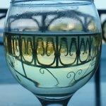 Arty wineglass on the balcony!