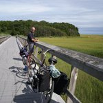Rail trail near National Seashore