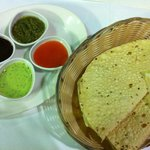 this was given at first n i love it papadum n chutany