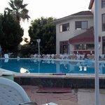 pool and bar to far right