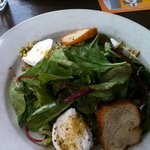 Pistachio Dusted Goat Cheese Salad