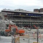 Bouw van het stadion tegenover het hotel