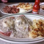 Corned Beef Hash and Farmer's Benny at Cavis