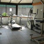 la salle de sport ou se trouve aussi le hamam et le sauna