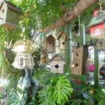 Birdhouses in the garden.