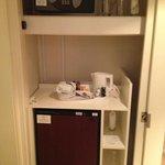 Safe and mini fridge