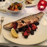 Whole sea bass