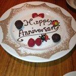 Chocolate anniversary plate