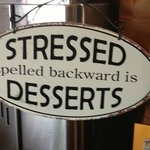 Sign inside of Cafe Aquatica says it all!