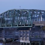 Swing Bridge from the park