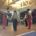 Turkish night dancers in restaurant