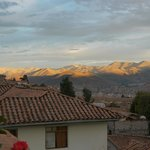 Sunset over Cusco from our hotel balcony