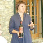Elena explaining about her organic wines