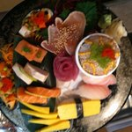Sashimi platter. Only the freshest cuts for our customers!