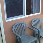 Chairs on balcony.